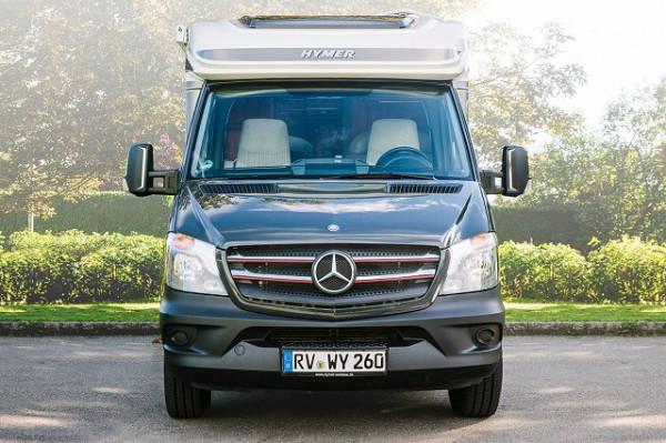 Kühlergrilldekor Chrom/Rot Mercedes Benz