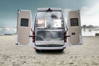 Foldable insulation for rear doors Mercedes