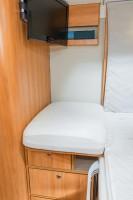 HYMER Spannbettlakenset Duomobil, Set bestehend aus 1 Laken Hubbett und 2 Laken für Fußteile