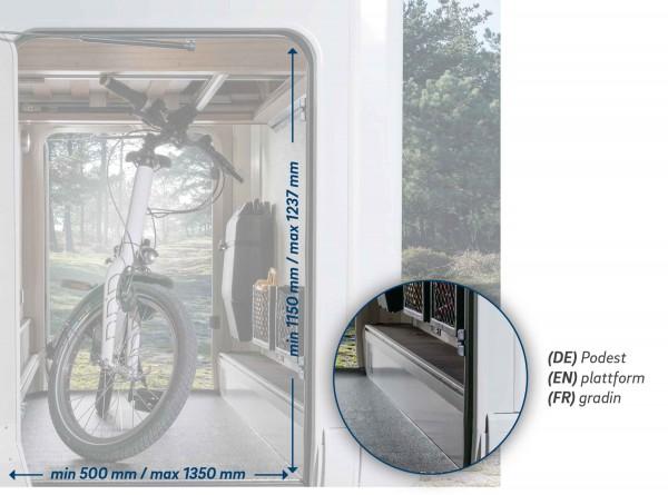 Bike Carrier für 2 Räder - Fiat Version ( Fahrzeuge MIT Absatz/Podest in der Garage)