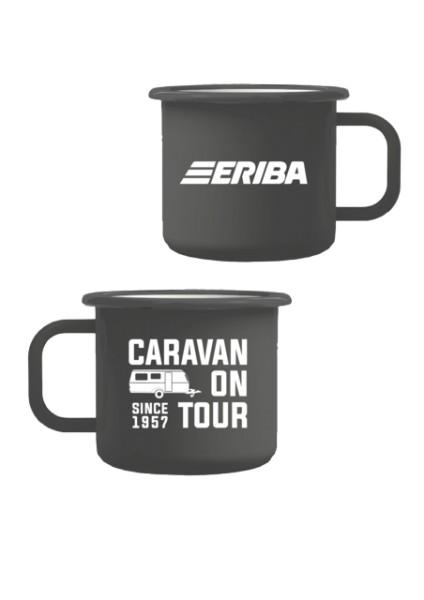 "Emaille Tasse ""Caravan since 1957"""