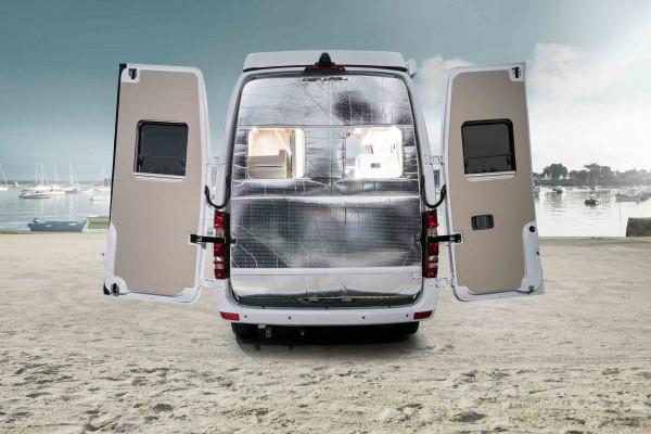 Thermoisolierung klappbar für Hecktüren Mercedes